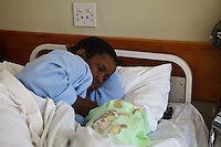 2 August 2011, Teyateyaneng Hospital, Berea District, Lesotho. Malindiwe Pheko, 35 years old gave to her 3rd child, a boy born at 12.10 pm weighing 4.1kg. She is HIV positive and has been taking ART for approximately a month prior to delivering.