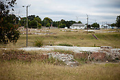 The remains of the Fayette Place housing project in Durham, N.C., Tuesday, September 21, 2010. ..