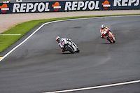 Dani Pedrosa and Jorge Lorenzo, seconds before