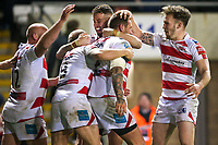 Picture by Alex Whitehead/SWpix.com - 16/03/2017 - Rugby League - Betfred Super League - Leigh Centurions v Warrington Wolves - Leigh Sports Village, Leigh, England - Leigh's Gareth Hock celebrates his try with team-mates.