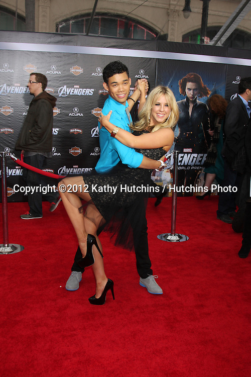 "LOS ANGELES - APR 11:  Chelsie Hightower, Roshon Fegan arrives at ""The Avengers"" Premiere at El Capitan Theater on April 11, 2012 in Los Angeles, CA"