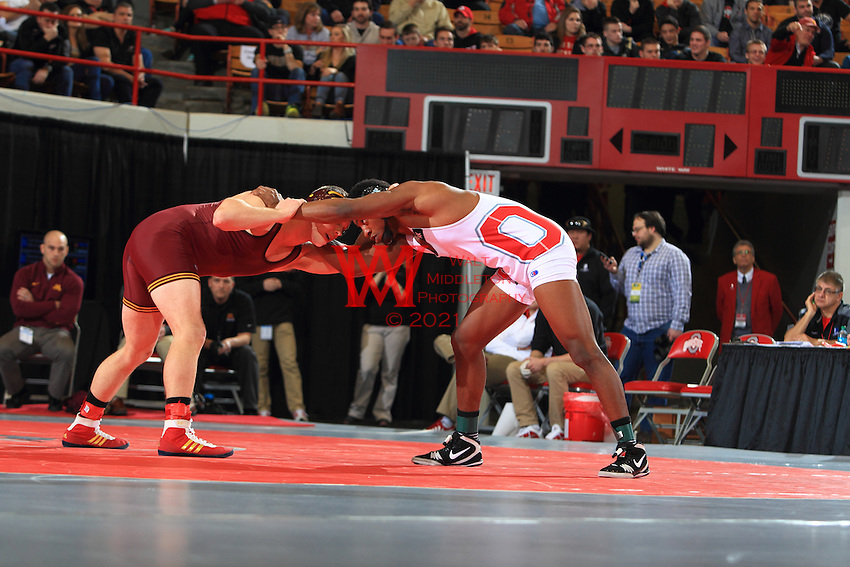 The Ohio State University wrestling team win the 2015 B1G Wrestling Tournament at St. John's Arena, The Ohio State University, Columbus, OH. March 8, 2015