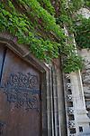 Gothic revival doors,  University of Chicago, Chicago, Illinois, IL, USA