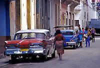 Old Havana Cuba Classic American 57 Ford, 56 Chevy, Havana Cuba, Republic of Cuba,