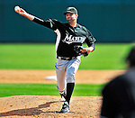 8 March 2010: Florida Marlins' pitcher Burke Badenhop in action during a Spring Training game against the Washington Nationals at Space Coast Stadium in Viera, Florida. The Marlins defeated the Nationals 12-2 in Grapefruit League action. Mandatory Credit: Ed Wolfstein Photo