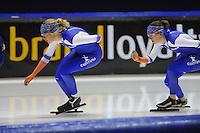 SCHAATSEN: HEERENVEEN: 03-10-2014, IJsstadion Thialf, Team Continu, Yvonne Nauta, Ireen Wüst, ©foto Martin de Jong