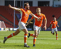 Blackpool's Clark Robertson celebrates scoring his sides second goal <br /> <br /> Photographer Alex Dodd/CameraSport<br /> <br /> The EFL Sky Bet League Two - Blackpool v Cheltenham Town - Saturday 22nd April 2017 - Bloomfield Road - Blackpool<br /> <br /> World Copyright &copy; 2017 CameraSport. All rights reserved. 43 Linden Ave. Countesthorpe. Leicester. England. LE8 5PG - Tel: +44 (0) 116 277 4147 - admin@camerasport.com - www.camerasport.com