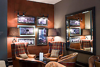 The Great Scots Bar -  featuring tribute to, among others, inventor John Logie Baird, racing driver Jim Clarke, biologist Alexander Fleming, footballer Ally McCoist, athlete Liz McColgan - at The Cameron House Hotel Glasgow, Scotland