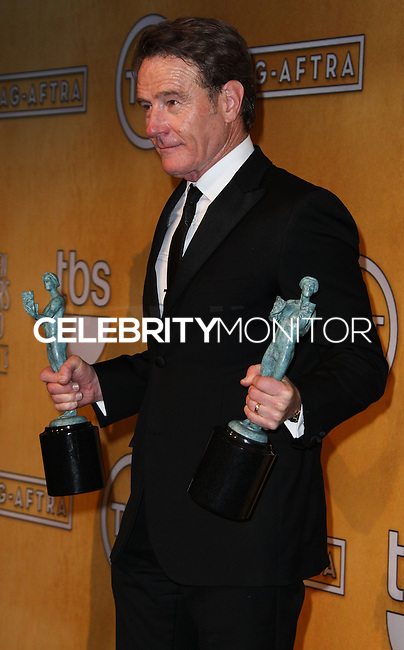 LOS ANGELES, CA - JANUARY 18: Bryan Cranston in the press room at the 20th Annual Screen Actors Guild Awards held at The Shrine Auditorium on January 18, 2014 in Los Angeles, California. (Photo by Xavier Collin/Celebrity Monitor)
