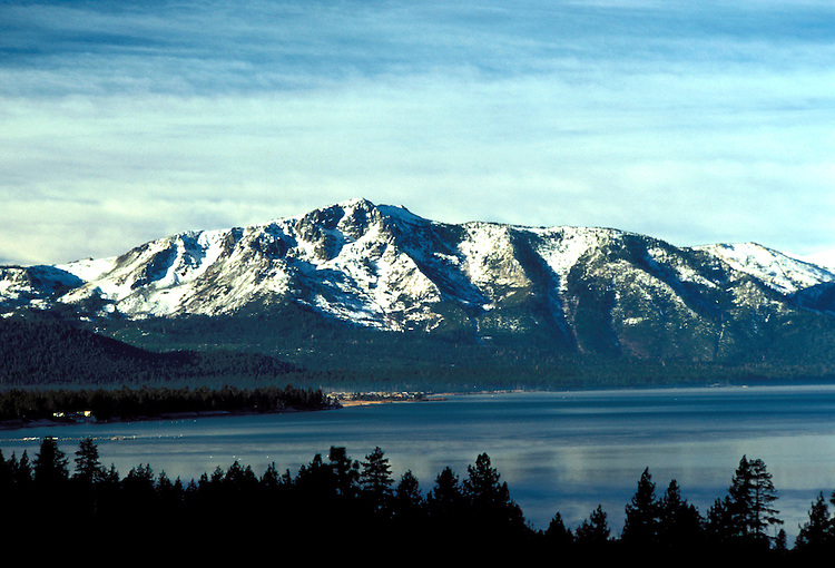 California: Lake Tahoe.  View from Emerald Bay.  Photo cataho103..Photo copyright Lee Foster, 510/549-2202, lee@fostertravel.com, www.fostertravel.com.