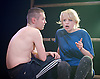 Yen<br /> by Anna Jordan <br /> at The Royal Court Theatre, London, Great Britain <br /> 22nd January 2016 <br /> Press Photocall <br /> <br /> Jake Davies as Bobbie<br /> <br /> <br /> Sian Brecken as Maggie<br /> <br /> <br /> Photograph by Elliott Franks <br /> Image licensed to Elliott Franks Photography Services