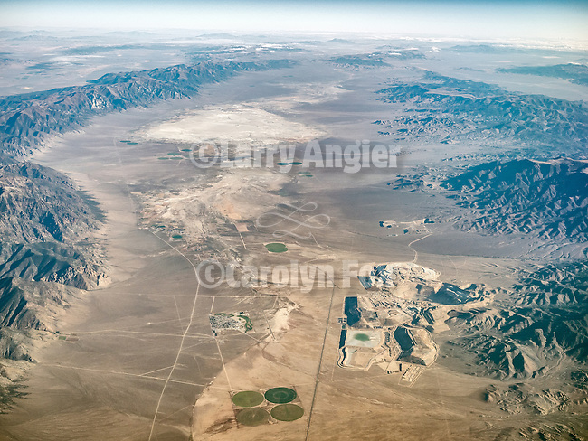 Round Mountain Gold Mine, Big Smoky Valley, Nevada. USA Fly-over County-from the window seat of Southwest #1882 from SMF to DAL, September 2016