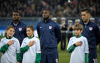 Jozy Altidore  (m, USA), during the friendly match Italy against USA at the Stadium Luigi Ferraris at Genoa Italy on february the 29th, 2012.