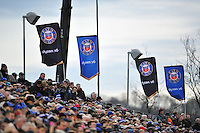 A general view of the Bath crowd in the East stand. European Rugby Champions Cup match, between Bath Rugby and RC Toulon on January 23, 2016 at the Recreation Ground in Bath, England. Photo by: Patrick Khachfe / Onside Images