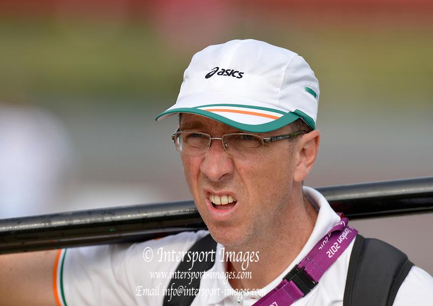 Description; Irish Coach, Adrian CASSIDY, Dorney Lake. 11:11:40 Thursday 26/07/2012 [Mandatory Credit: Peter Spurrier/Intersport Images] . - Olympic-Rowing-London-2012007723