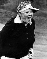 Womens golfing great Patty Berg pictured in a exibition at Round Hill Golf & Country Club in 1978..Patty was one of the pioneers of the LPGA. with 15 major championships, and female athlete of the year in 1938, 1943, and 1955. She is in the World Golf Hall of Fame. (photo 1978 by Ron Riesterer)