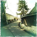 Photo shows a typical scene in Aizuwakamatsu City, Fukushima Prefecture, Japan.  Photographer: Rob Gilhooly