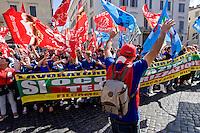 Roma 9  Maggio 2015<br /> Manifestazione dei lavoratori  dei gruppi francesi Auchan e Carrefour, sotto l'ambasciata francese di piazza Farnese. La causa della manifestazione sono i numerosi licenziamenti dovuti alle politiche di razionalizzazione dei costi delle aziende, solo per Auchan  sono previsti 1.426 licenziamenti in tutta Italia per Carrefour 100 licenziati solo a Roma.<br /> Rome, May 9, 2015<br /> Demonstration of workers of French groups Auchan and Carrefour, in front  the French Embassy in Piazza Farnese. The cause of the event are the many layoffs due to the policies of cost rationalization of companies, only for Auchan 1,426 layoffs are planned throughout Italy for Carrefour 100 laid off only in Rome.