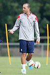 18 August 2014: Assistant coach Damon Nahas. The United States Women's National Team held a training session on Field 4 at WakeMed Soccer Park in Cary, North Carolina.