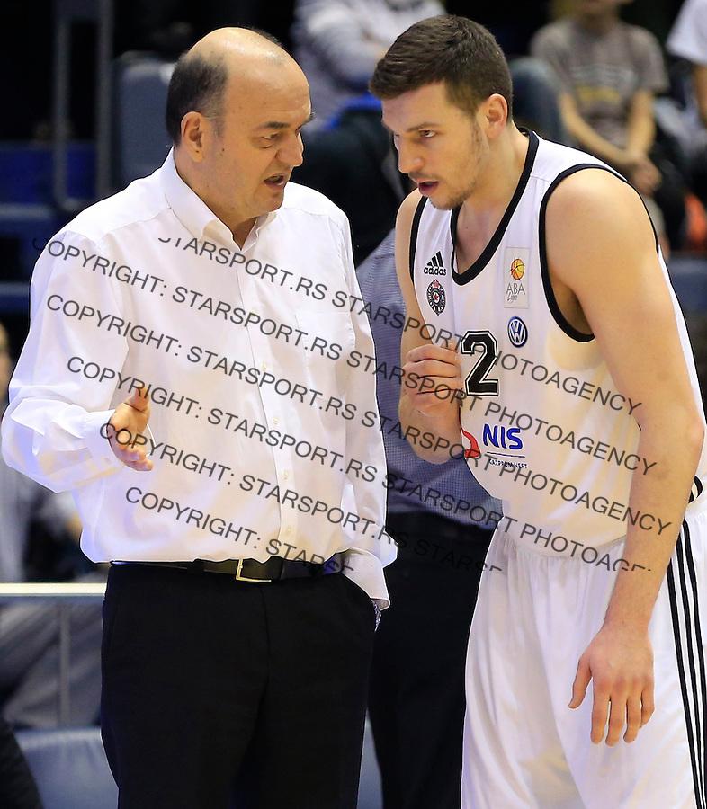Kosarka ABA League season 2014-2015<br /> Partizan v Zadar<br /> Head coach Dusko Vujosevic and Dragan Milosavljevic<br /> Beograd, 15.03.2015.<br /> foto: Srdjan Stevanovic/Starsportphoto&copy;