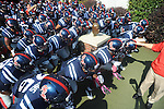 Ole Miss prepares to take the field vs. Auburn at Vaught-Hemingway Stadium in Oxford, Miss. on Saturday, October 13, 2012.
