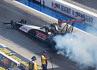 Sep 17, 2016; Concord, NC, USA; NHRA top fuel driver Steve Torrence during qualifying for the Carolina Nationals at zMax Dragway. Mandatory Credit: Mark J. Rebilas-USA TODAY Sports