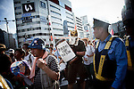 Tokyo, September 11 2011 - Anti-nuke demo in Shinjuku, 6 months after the Fukushima nuclear accident.