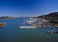 aerial photograph, Sausalito, Marin County, California