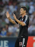 FUSSBALL   CHAMPIONS LEAGUE   SAISON 2011/2012  Qualifikation  23.08.2011 FC Zuerich - FC Bayern Muenchen JUBEL Mario Gomez (FC Bayern Muenchen) nach seinem Tor zum 0-1