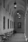 Passageway in the Public Library courtyard in Boston, MA.