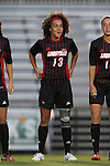 04 October 2014: Louisville's Rachel Avant (GER). The Duke University Blue Devils hosted the University of Louisville Cardinals at Koskinen Stadium in Durham, North Carolina in a 2014 NCAA Division I Women's Soccer match. The game ended in a 0-0 tie after double overtime.
