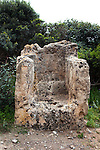 The throne carved from rock at Ancient Falassarna, Crete