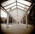 PL10406-00...WASHINGTON - Holga image of covered walkway in the Seattle Center.