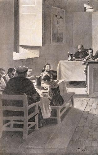 Alegoría de la Educación de Enriquillo. Tomada del libro de Manuel de J. Galván, Enriquillo. Edición de Barcelona, 1909.