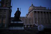 Lichen, Poland, March 29, 2011:.The pope John Paul 2 monument by Lichen basilica. .(Photo by Piotr Malecki / Napo Images)..Lichen, 29/03/2011:.Pomnik papieza Jana Pawla II pod bazylika w Licheniu.Fot: Piotr Malecki / Napo Images