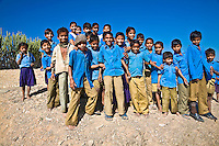 Cheeky school kids trying to get in the photo in rural India. (Photo by Matt Considine - Images of Asia Collection)