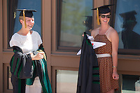 Lindsay Peet, left, Jessica Wood. Class of 2012 commencement.