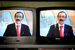 Giuseppe Maniaci presenting his Tv program...Partinico, Sicily, Italy - June 2006.