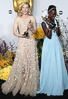 HOLLYWOOD, LOS ANGELES, CA, USA - MARCH 02: Cate Blanchett, Lupita Nyong'o at the 86th Annual Academy Awards - Press Room held at Dolby Theatre on March 2, 2014 in Hollywood, Los Angeles, California, United States. (Photo by Xavier Collin/Celebrity Monitor)
