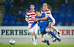 St Johnstone v Hamilton Accies...10.05.11.Alex Neil all over Murray Davidson.Picture by Graeme Hart..Copyright Perthshire Picture Agency.Tel: 01738 623350  Mobile: 07990 594431