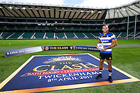 """Jonathan Joseph of Bath Rugby. Bath Rugby Photocall for """"The Clash"""" on September 22, 2016 at Twickenham Stadium in London, England. Photo by: Andrew Fosker / Onside Images"""
