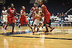 "Ole Miss' Valencia McFarland (3) vs. Lamar in women's college basketball at the C.M. ""Tad"" Smith Coliseum in Oxford, Miss. on Monday, November 19, 2012.  Lamar won 85-71."