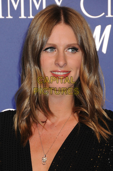 NICKY HILTON.Jimmy Choo for H&M Launch Party held at a Private Residence, West Hollywood, California, USA..November 2nd, 2009.headshot portrait black silver necklace make-up eyelashes eyeliner sparkly .CAP/ADM/BP.©Byron Purvis/AdMedia/Capital Pictures.