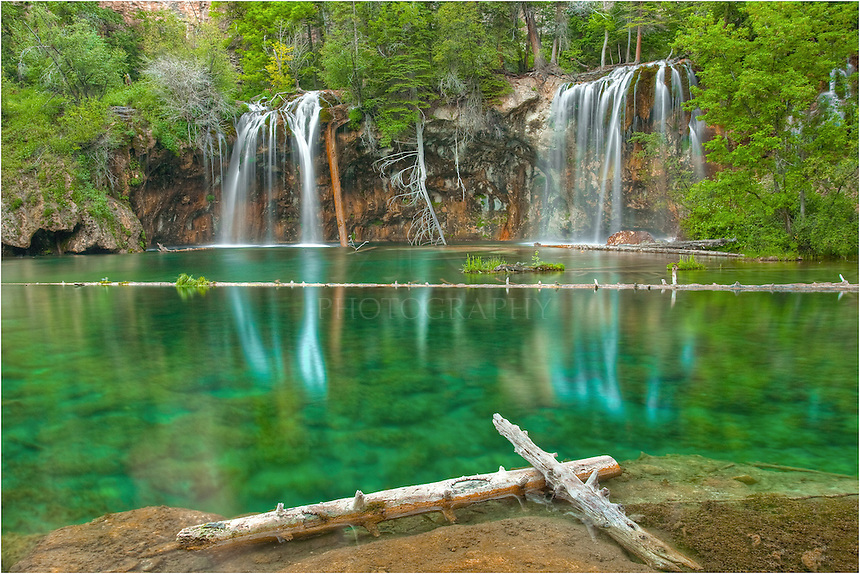 To capture this Colorado image, I hiked up a steep but short (one mile) trail to reach Hanging Lake about 30 minutes before sunrise. I was rewarded by crystal clear and still water. This is one of Colorado's icons, and a Rocky Mountain jewel - well worth the effort.