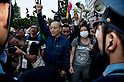 June 22, 2012, Tokyo, Japan - Demonstrators against restarting Oi plant meet in front of the Prime Minister's Official Residence. Anti-nuclear protesters stage a Twitter organized rally in front of the Prime Minister's Official Residence opposing the reactivation of the Oi Nuclear Power Plant in Fukui Prefecture. ..