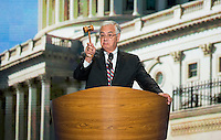 Rep. Barney Frank, D-Mass., speaks at the Democratic National Convention at Time Warner Cable Arena in Charlotte, N.C., on Thursday, Sept. 6, 2012.