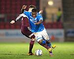 St Johnstone v Hearts.....18.01.14   SPFL<br /> Nigel Hasselbaink is fouled by Callum Tapping<br /> Picture by Graeme Hart.<br /> Copyright Perthshire Picture Agency<br /> Tel: 01738 623350  Mobile: 07990 594431