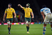 Scott Fardy of Australia. Rugby World Cup Semi Final between Argentina v Australia on October 25, 2015 at Twickenham Stadium in London, England. Photo by: Patrick Khachfe / Onside Images