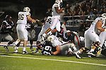 Vanderbilt wide receiver Wesley Tate (24) hurdles into the end zone on a 1 yard touchdown run against Ole Miss at Vaught-Hemingway Stadium in Oxford, Miss. on Saturday, November 10, 2012.