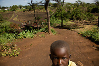 A refugee child in Nyori  refugee camp, South Sudan. Attacks in Congo by the Lord's Resistence Army have forced thousands  to seek refugee across the border in South Sudan.